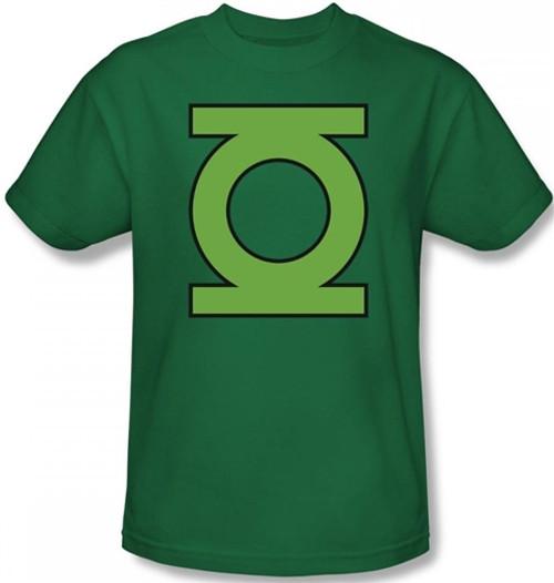 Image Closeup for Green Lantern GL Emblem T-Shirt