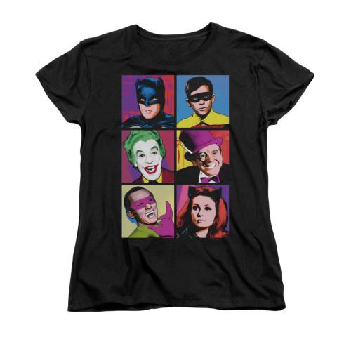 Image for Batman Classic TV Womans T-Shirt - Pop Cast