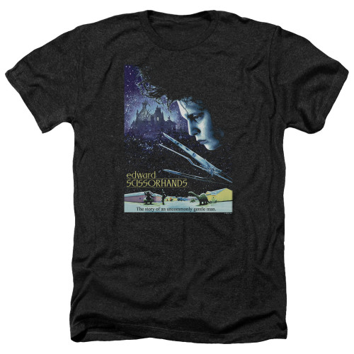 Image for Edward Scissorhands Heather T-Shirt - Poster