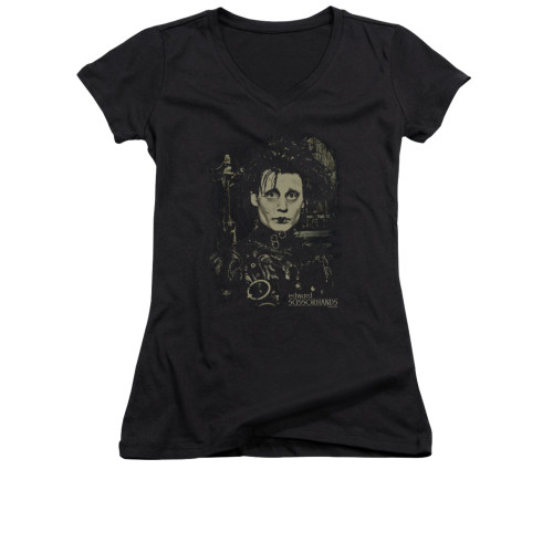 Image for Edward Scissorhands V Neck T-Shirt - Edward
