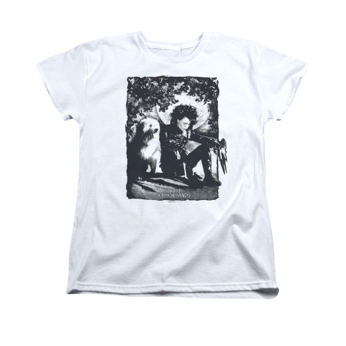 Image for Edward Scissorhands Womans T-Shirt - Lucky Dog