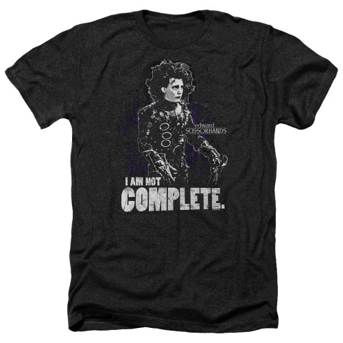Image for Edward Scissorhands Heather T-Shirt - Not Complete