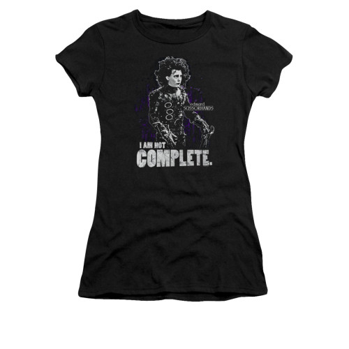 Image for Edward Scissorhands Girls T-Shirt - Not Complete