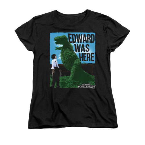 Image for Edward Scissorhands Womans T-Shirt - Edward Was Here
