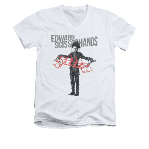 Image for Edward Scissorhands V Neck T-Shirt - Show & Tell