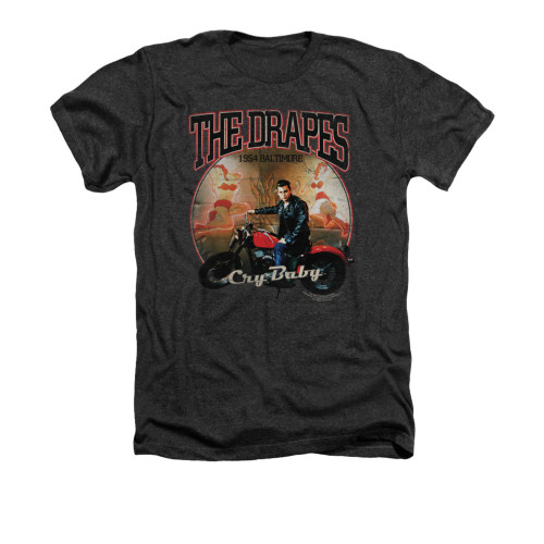 Image for Cry Baby Heather T-Shirt - Drapes