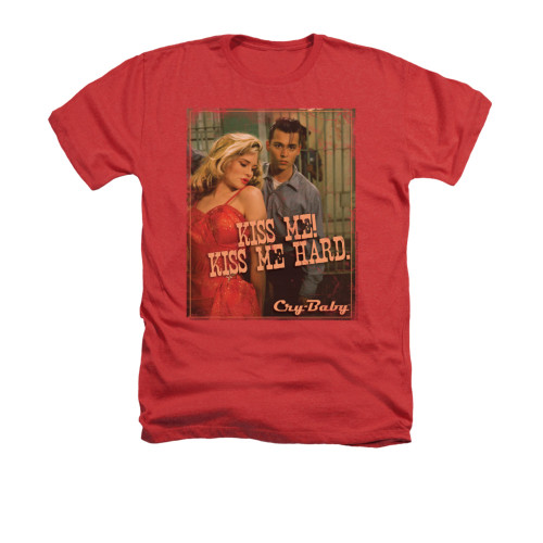 Image for Cry Baby Heather T-Shirt - Kiss Me