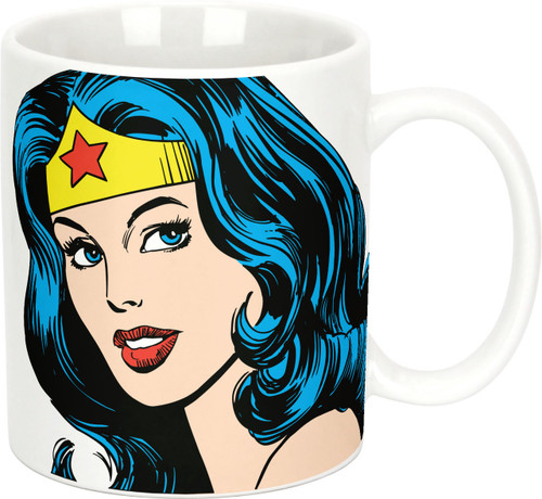 Image Closeup for Wonder Woman Face Cuddle Cup