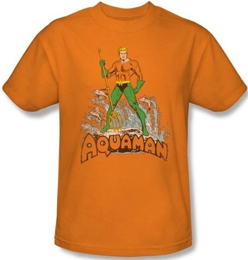 Image for Aquaman Distressed T-Shirt