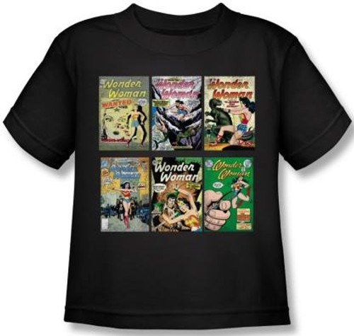 Image for Wonder Woman Covers Kid's T-Shirt