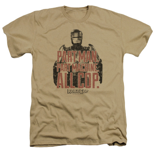 Image for Robocop Heather T-Shirt - Vintage Tagline