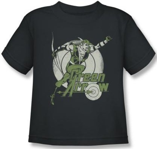Image for Green Arrow Right on Target Kid's T-Shirt