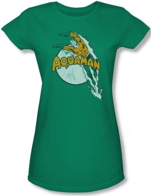 Image for Aquaman Splash Dive Girls Shirt