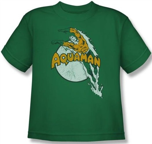 Image for Aquaman Splash Dive Youth T-Shirt