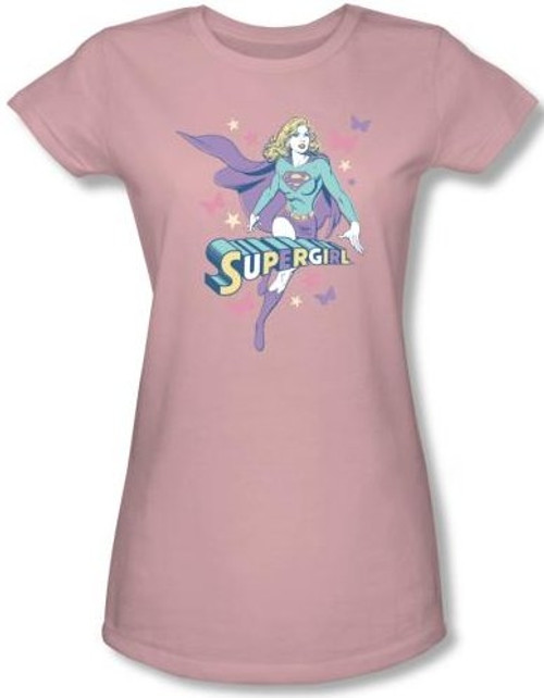 Image for Supergirl Pastels Girls Shirt