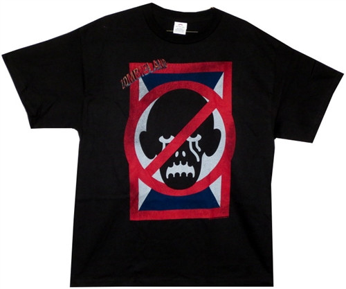 Image Closeup for Zombieland T-Shirt - No Zombies Sign