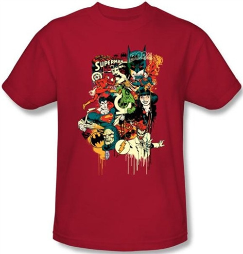 Image Closeup for DC Dripping Characters T-Shirt