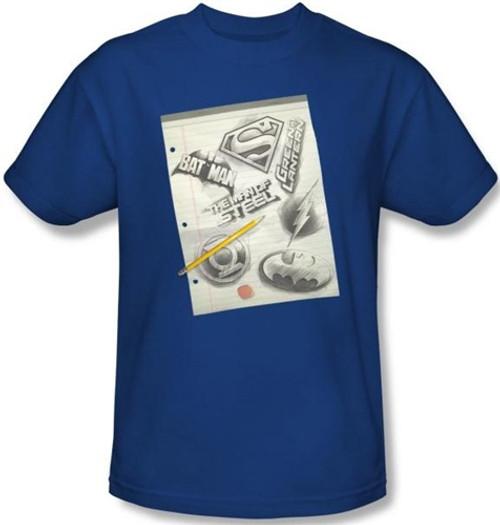 Image Closeup for JLA Logo Note Paper T-Shirt
