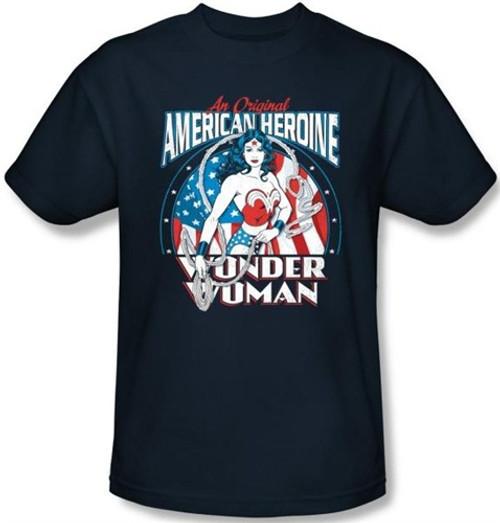Image Closeup for Wonder Woman American Heroine T-Shirt