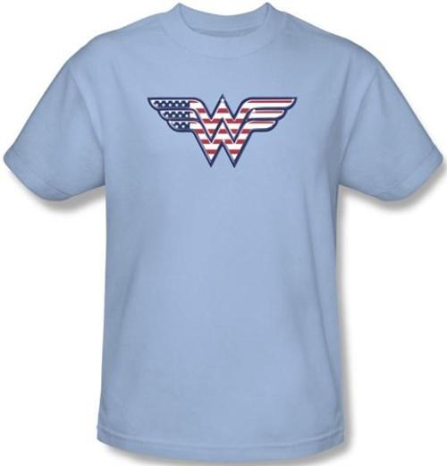 Image Closeup for Wonder Woman Red, White & Blue Logo T-Shirt