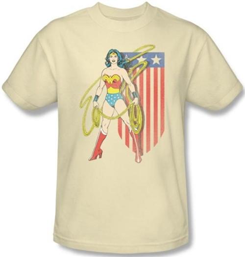 Image Closeup for Wonder Woman USA Banner T-Shirt
