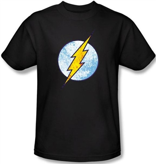 Image Closeup for Flash Neon Distress Logo T-Shirt