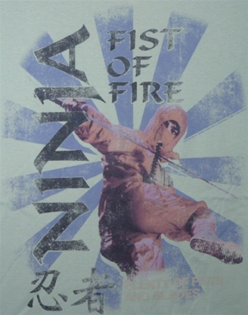 Image Closeup for Ninja Fist of Fire T-Shirt