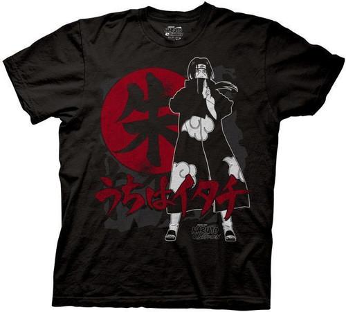 Image for Naruto Shippuden Itachi Symbols T-Shirt