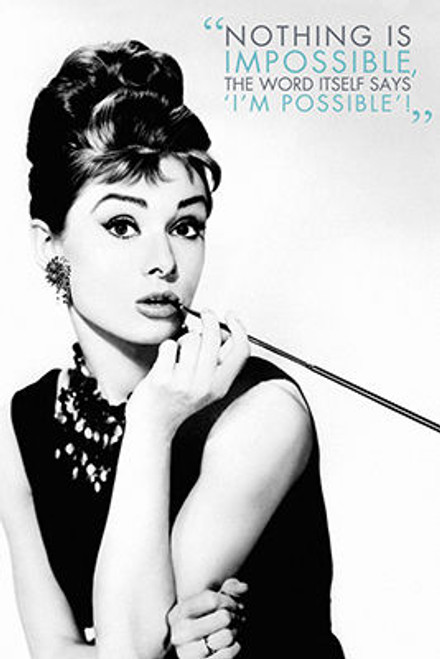 Image for Audrey Hepburn Nothing is Impossible Poster