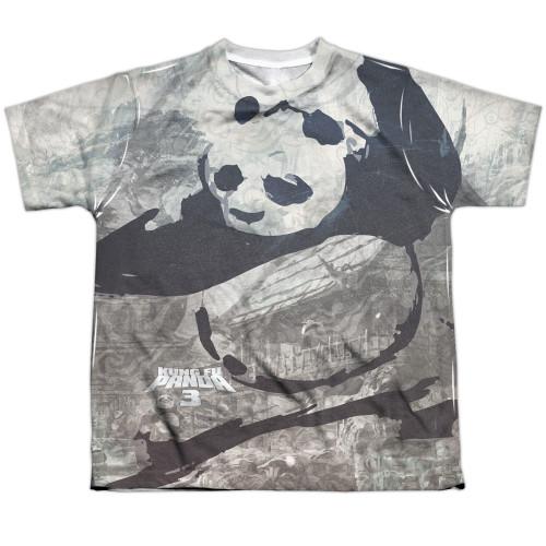 Image for Kung Fu Panda Youth T-Shirt - Sublimated Brushed Panda