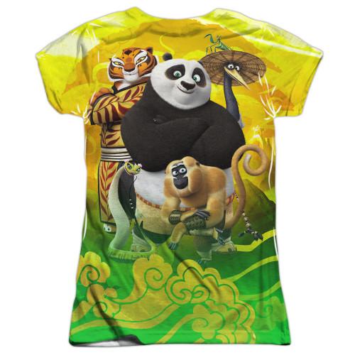 Image for Kung Fu Panda Girls T-Shirt - Sublimated Pose 100% Polyester