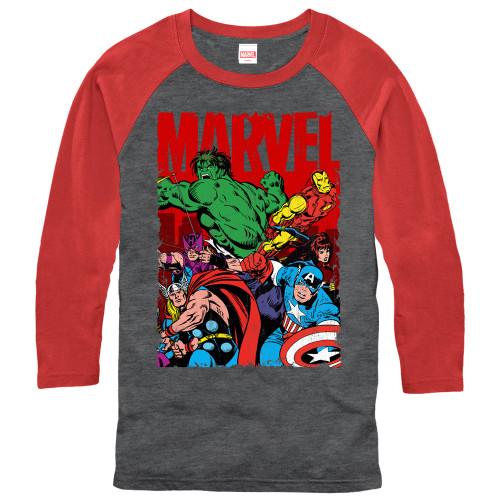 Image for Avengers 3/4 Sleeve T-Shirt - Team Work