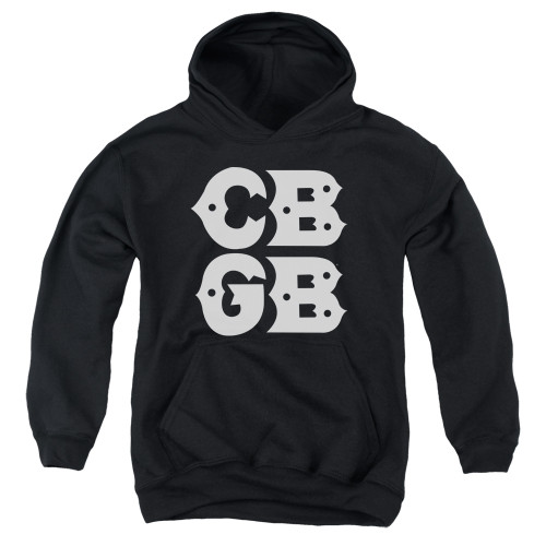 Image for CBGB Youth Hoodie - Stacked Logo