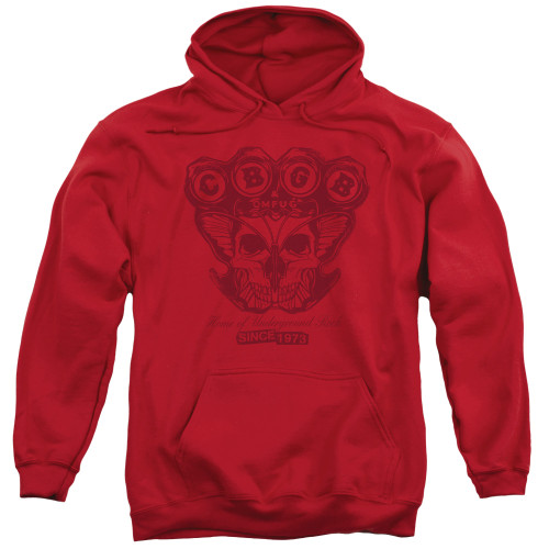 Image for CBGB Hoodie - Moth Skull