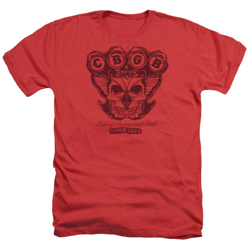 Image for CBGB Heather T-Shirt - Moth Skull