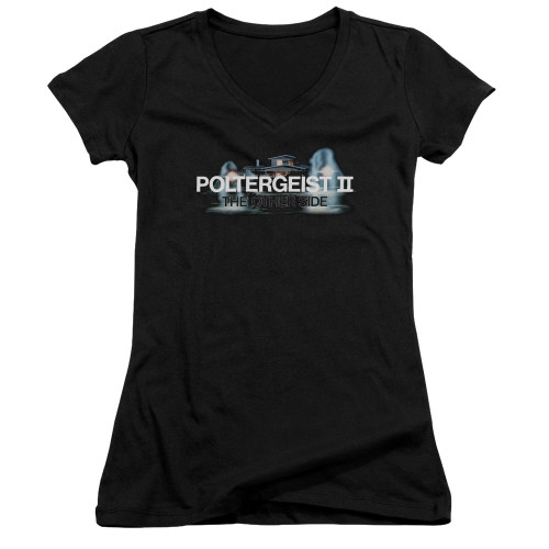 Image for Poltergeist II Girls V Neck - Logo the Other Side
