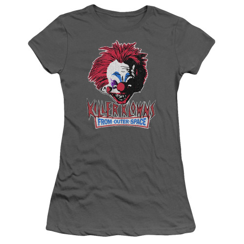 Image for Killer Klowns From Outer Space Girls T-Shirt - Rough Clown