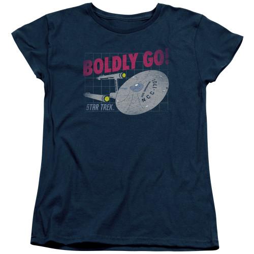 Image for Star Trek Womans T-Shirt - Boldly Go