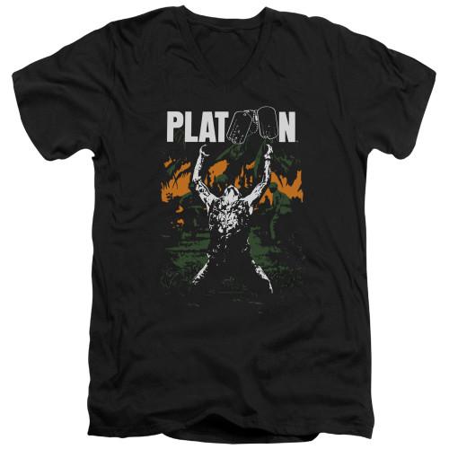 Image for Platoon V Neck T-Shirt - Graphic