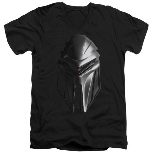 Image for Battlestar Galactica V Neck T-Shirt - Cylon Head