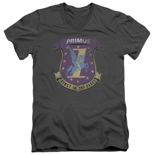 Image for Battlestar Galactica V Neck T-Shirt - Primas Badge