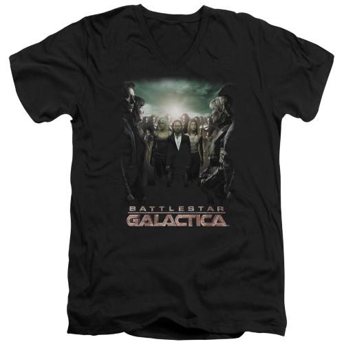 Image for Battlestar Galactica V Neck T-Shirt - Crossroads