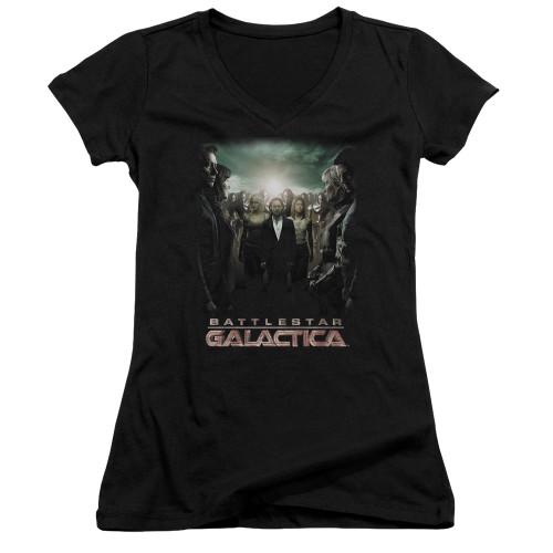 Image for Battlestar Galactica Juniors V Neck - Crossroads