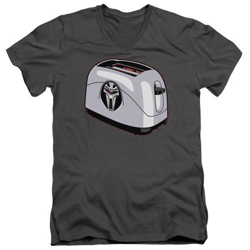 Image for Battlestar Galactica V Neck T-Shirt - Toaster