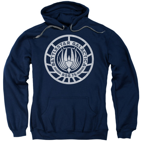 Image for Battlestar Galactica Hoodie - Scratched BSG Logo
