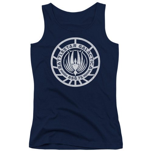 Image for Battlestar Galactica Juniors Tank Top - Scratched BSG Logo
