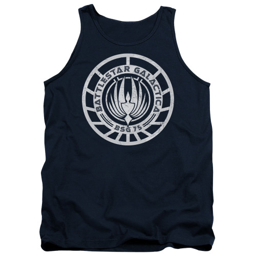 Image for Battlestar Galactica Tank Top - Scratched BSG Logo