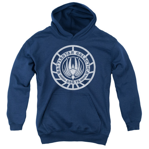 Image for Battlestar Galactica Youth Hoodie - Scratched BSG Logo