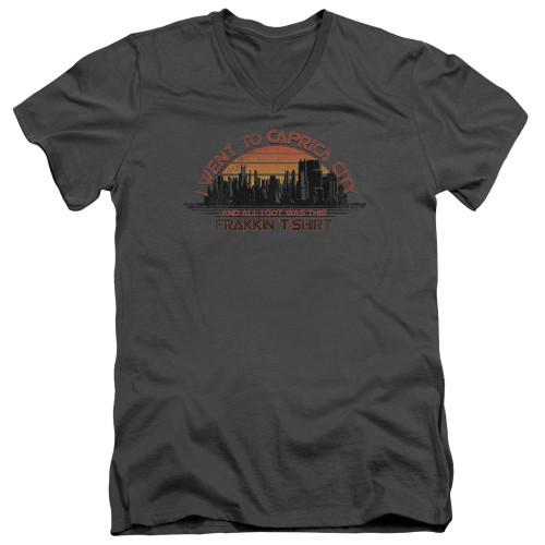 Image for Battlestar Galactica V Neck T-Shirt - Carpica City