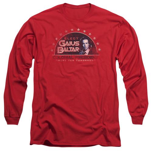 Image for Battlestar Galactica Long Sleeve Shirt - Elect Gaius Baltar